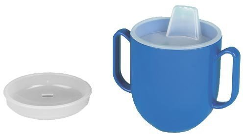 Ableware 745940000 No-Tip Weighted Base Cup wth Spill Proof by Maddak Inc.