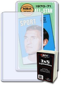 BCW Tall ( 3 X 5 ) Topload Holder (25 Holders/pack - Classic 3x5 Size) Tall Basketball, Football, Widevison, Non-sport & Sports Trading Cards Top Load - Sportcards Card Collecting Supplies (Football Qube compare prices)