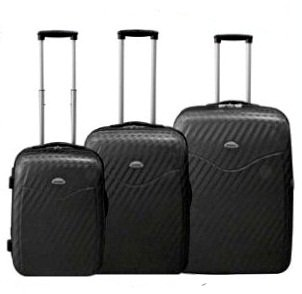 Koffer-Set 3 tlg. Trolley-Set Reisekoffer ABS