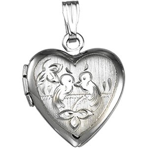 Genuine IceCarats Designer Jewelry Gift Sterling Silver Heart Shaped Locket. 15.25X14.75 Mm Heart Shaped Locket In Sterling Silver