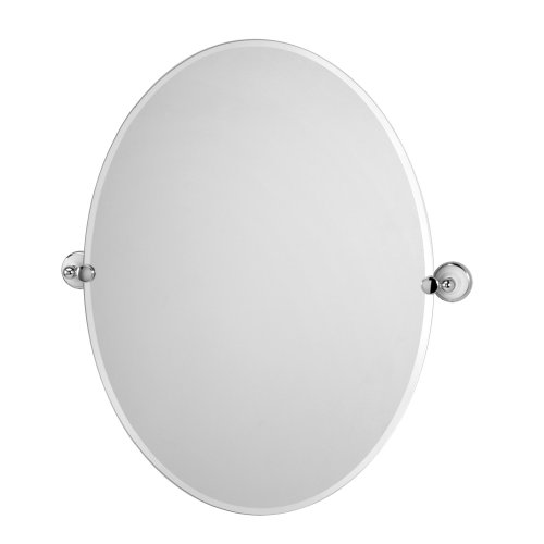 Gatco 4961 Franciscan Large Oval Wall Mirror, Chrome front-597928