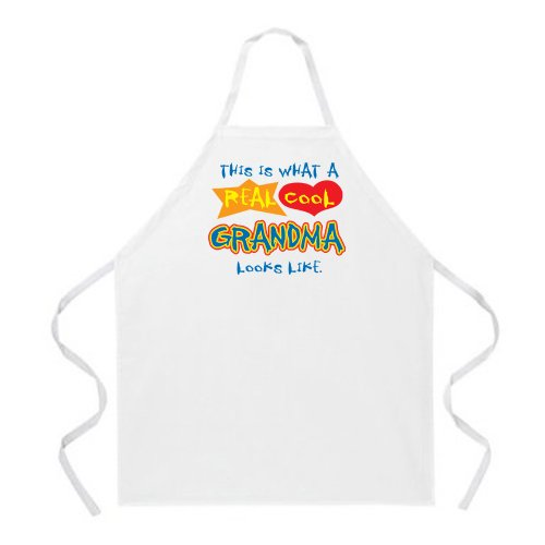 Attitude Apron Real Cool Grandma Apron, Natural, One Size Fits Most