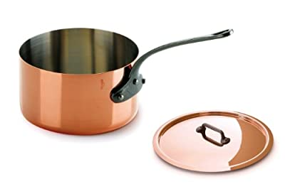 Mauviel M'Heritage Copper 150c 6410.19 2.7-Quart Sauce Pan and Lid with Cast Iron Handle