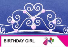 elope Kid's Birthday Girl Sash & Tiara Set - 1