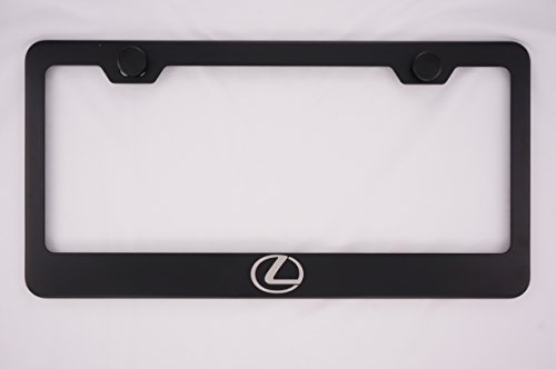 Lexus Logo Laser Engraved Black License Plate Frame with Caps (Lexus Gs 350 License Plate Frame compare prices)