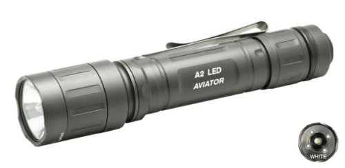 Surefire Aviator 2L Flashlight, Olive Drab, Dual Output, White Led A2L-Ha-Wh