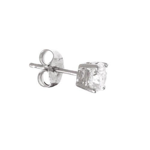 18ct White Gold 0.25ct Single Mens Diamond Stud Earring