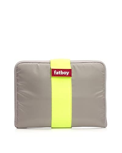 Famous Beanbag Maker Tablet Tuxedo, Taupe/Yellow