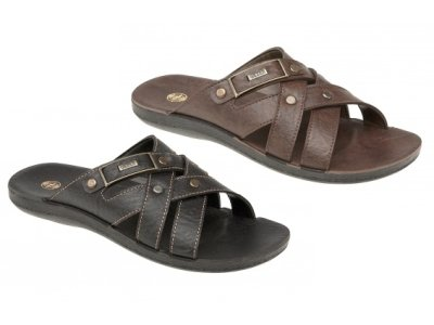 MENS VINTAGE FLIP FLOPS BEACH HOLIDAY SANDALS FAUX LEATHER MULES SLIP ONS size 6-11