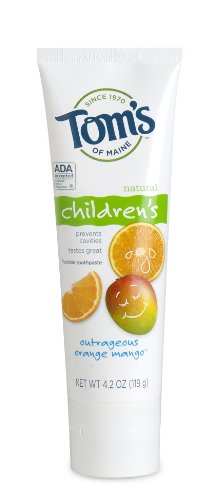 Tom's of Maine - Anticavity Children's Toothpaste, Outrageous Orange-Mango, 4.2oz (Pack of 3)