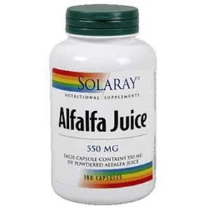 Solaray Alfalfa Juice 550mg 180's