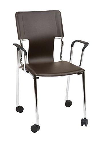 Work Smart Dorado Desk Chair with Casters, Espresso, 2-Pack