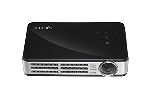 VIVITEK LED モバイルプロジェクター QUMI ブラック ( 高輝度 500ルーメン / WXGA / HD720P / DLP / Wi-Fiワイヤレス接続 / MHL / 超軽量480g ) Q5-R-BK
