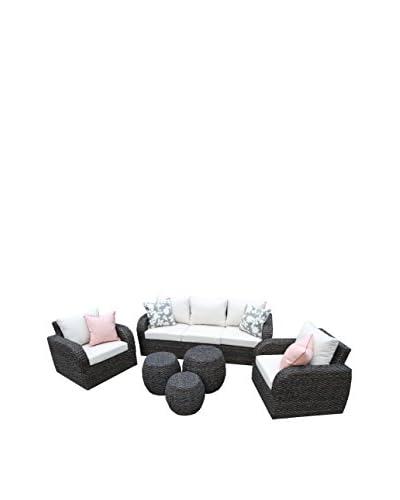 AE Outdoor Sanford 6-Piece Deep Seating Set, Beige