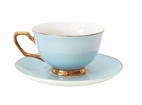 Cristina Re-Tazza e piattino, colore: blu polvere