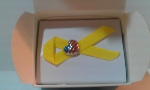 Collectible Avon 9/11 The Yellow Ribbon Heart Shaped Flag Lapel Pin