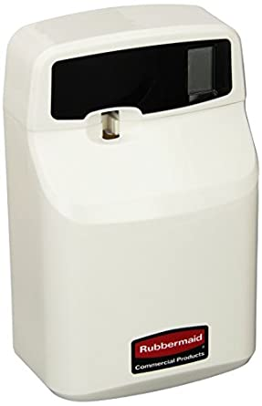 Rubbermaid Commercial FG516900OWHT SeBreeze 9000 Programmable Plus Metered Aerosol Odor Control Dispenser, Off-White
