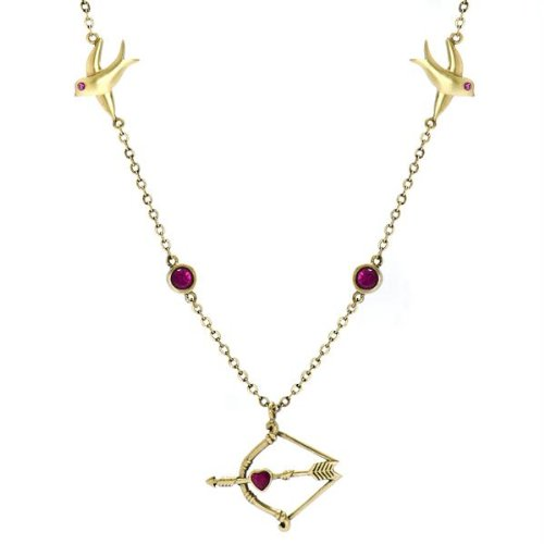 Hunger Games Inspired Jewelry: Katniss's Simulated Ruby Arrow Necklace