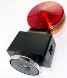 Battery Powered Strobe Light - Heavy Duty Hazard Flashing Lights - RED/AMBER - HDFL-AR
