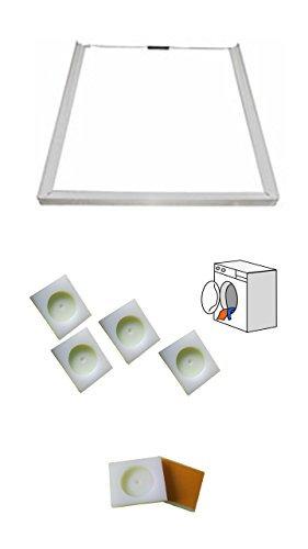 Universel-Accessoires-de-machine--laver-Cadre-de-raccordement-Plaques-de-fixation-pour-sche-linge--Autocollant-ensemble-de-4