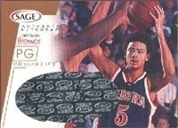 Jamison Brewer Indiana Pacers 2001 Sage Authentic Autograph Autographed Hand Signed... by Hall+of+Fame+Memorabilia