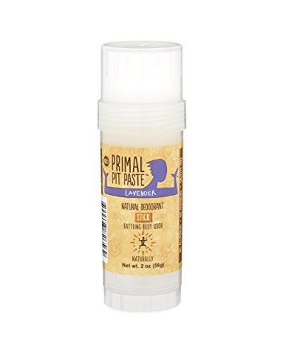 Primal Pit Paste All Natural Deodorant Stick, Aluminum Free, Paraben Free, No Added Fragrances, Lavender Stick