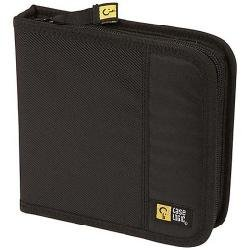 Case Logic Custodia per CD/DVD in Nylon, contiene fino a 16 CD o DVD, colore: Nero
