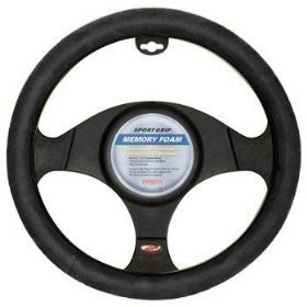 Memory Foam Steering Wheel Cover - Black