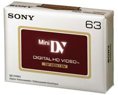 Sony DVM 63 HD Video Tapes (5 pack)