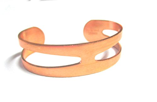 Pure Solid Copper Bracelet Cuff Adjustable Bracelet in Split Design