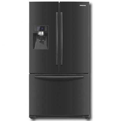 Samsung Rfg237 23 Cubic Foot French Door Refrigerator With 3 Doors And Integrated Water & Ice, Black Pearl