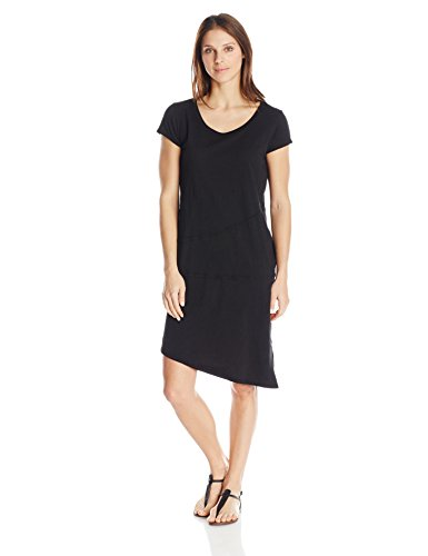 Mod-O-Doc Mod-O-Doc Women's Shirred Inset Dress, Black, Large B00OT68R1K