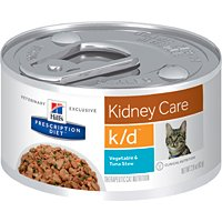 Hill's Prescription Diet k/d Feline Renal Health Vegetable & Tuna Stew Canned Cat Food 24/2.9