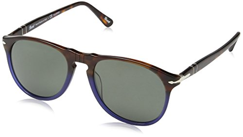 Persol 1022/58 Brown-blue 9649S Oval Sunglasses Polarised Lens Category 3