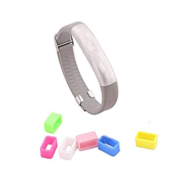 Bradychan 6PCS Colorful Non-Slip Buckle Clasp Fastener Clip Replacement for 2015 New Jawbone UP3 UP2 Upgrade Version Band Wrsit Strap Fitness Activity Tracker (Non Slip Buckle Pack of 6)