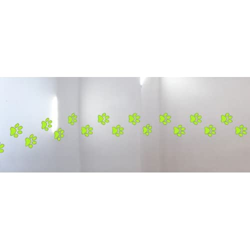 Wall Hugs Cat Paws Paw Print Wall Decal, Apple Green