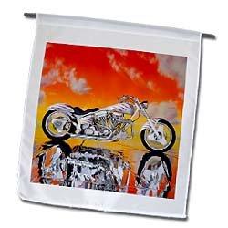 3dRose fl_ 4489_1 Harley-Davidson Motorcycle Picture Garden Flag