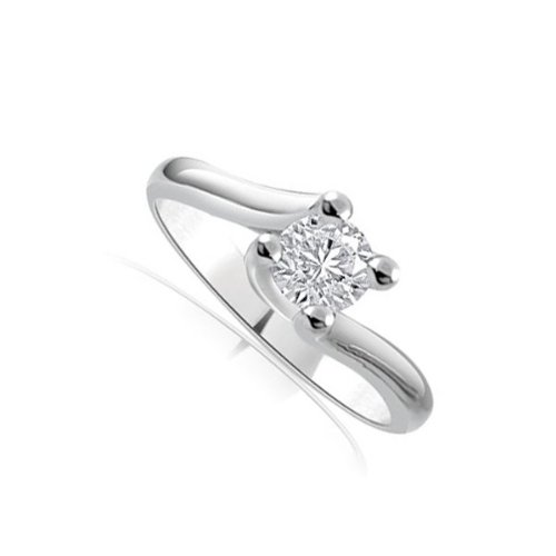 Infinity Jewellery 0.20ct Solitaire Diamond Engagement Ring with a Round Brilliant Cut Diamond G/VS1 in 18ct yellow gold - G