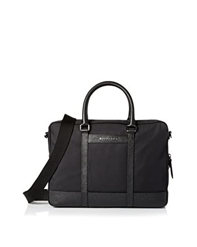 BURBERRY Men's Small Nylon Briefcase, Black