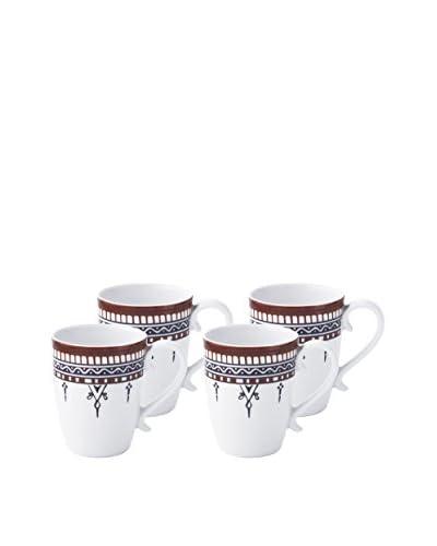 Padma Collection Minakari 14-Oz. Mugs, Plum/Berry, Set of 4