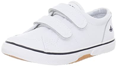 Sperry Top-Sider Halyard H&L Boat Shoe (Toddler/Little Kid),White,5 W US Toddler