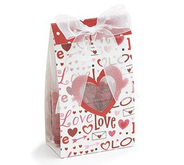 Love Struck Valentine's Day Gift Bags With Little Heart Pattern Pack of 12