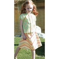 Ziggity Zag Skirt and Top Sizes 3-5 Pattern by Maw Bell Designs Pattern