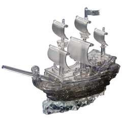 3D Crystal Puzzle Deluxe Pirate Ship Smoke Color