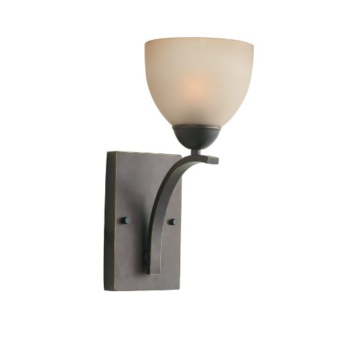 Woodbridge Lighting 13051MEB-C20602 North Bay 1-Light Wall/Bath Sconce, 6-Inch by 13-3/4-Inch by 8-Inch, Metallic Bronze