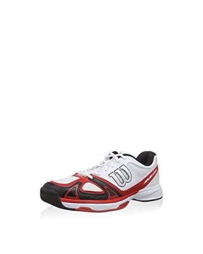 Wilson Sportschuh Rush Evo weiß/rot/schwarz