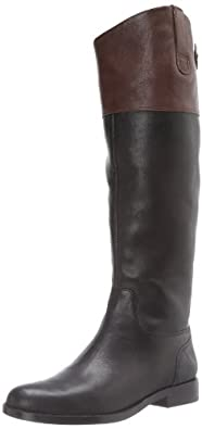 Lauren Ralph Lauren Women's Jenessa Boot,Black/Dark Brown,5 B US
