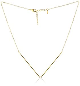 gorjana Greer V Necklace, 18""