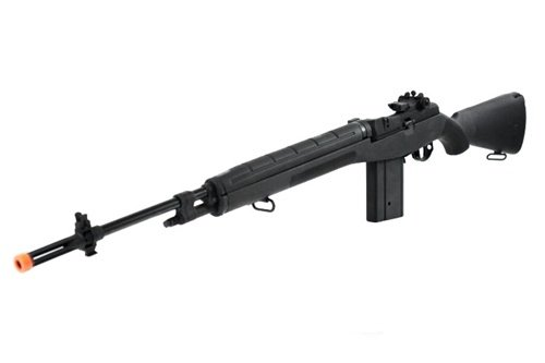 CYMA Full Metal Gearbox M14 Fully Automatic AEG Rifle – TEXTURED BLACK – Enhanced 2011 Production Run Model