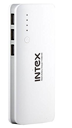 Upto 60% Off On Top Selling Power Banks By Amazon | Intex IT-PB11K 11000 mAh Power Bank (White) @ Rs.949